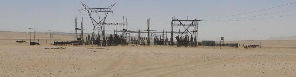 Substation near Lüderitz. Under the Environmental Management Act, all energy generation, transmission and storage activities require an  Environmental Clearance Certificate